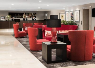 Rydges hotel lobby